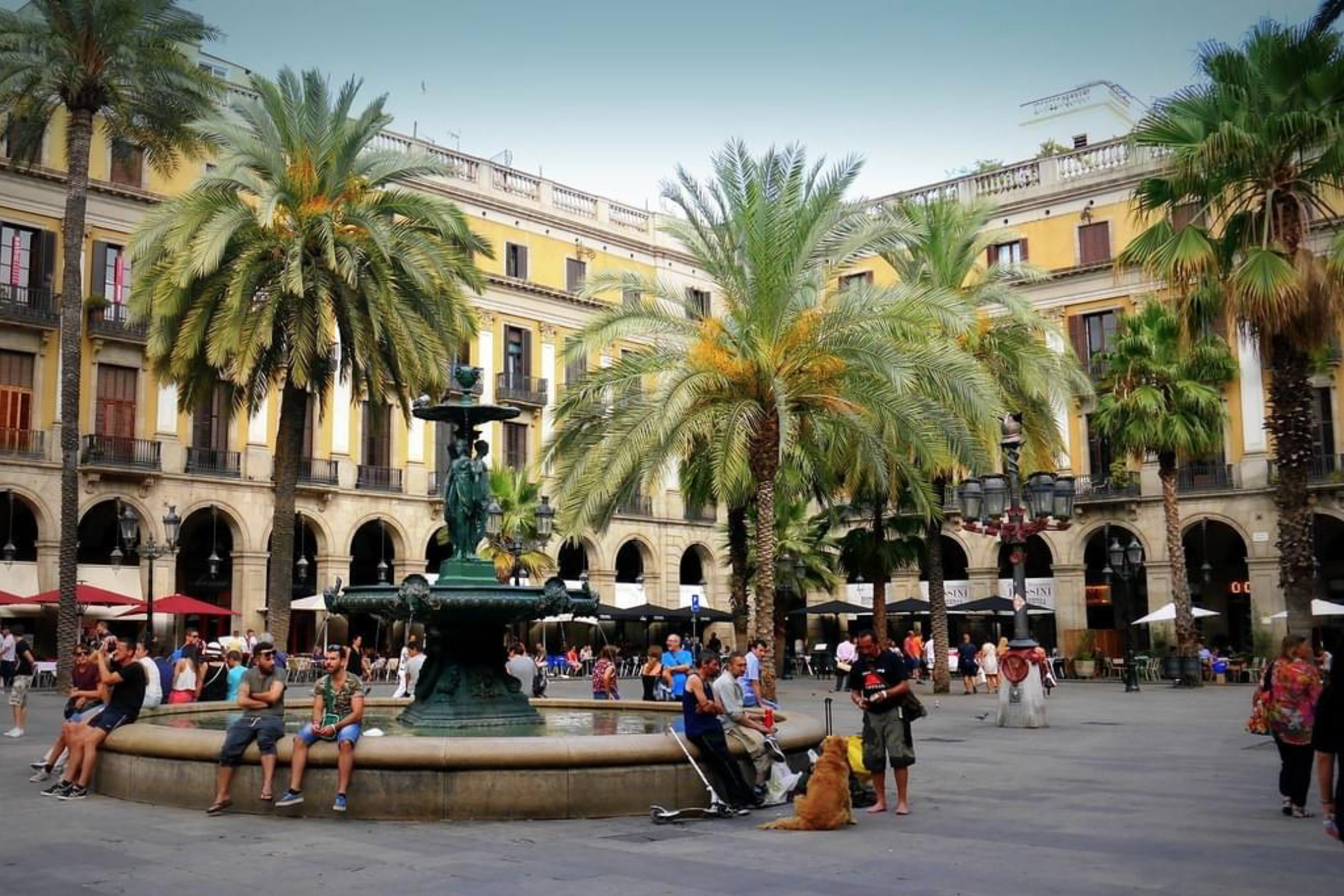 Application form for 3 month intensive ceramics course in Barcelona. Pictured: Plaza Real